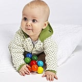 Baby Bead Wood Rattle, Teether, and Clutching Toy