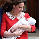 April: Kate gave birth to Prince Louis.