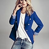 After spotting Kate Middleton and Jessica Alba donning blue blazers, Kate wears it with laid-back styling complements.