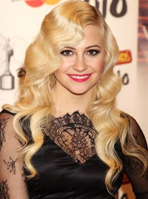 Pixie Lott Hair and Makeup at the Brit Awards