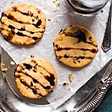 Cranberry Pistachio Shortbread Cookies with Balsamic Reduction
