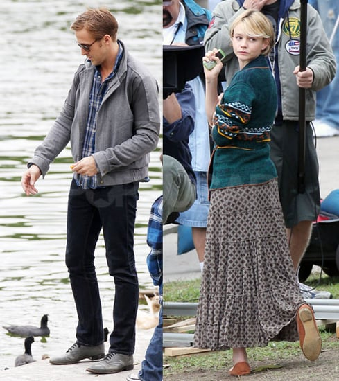 Pictures of Carey Mulligan and Ryan Gosling Filming Drive
