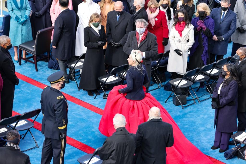 Lady Gaga Wore Custom Schiaparelli on Inauguration Day ...