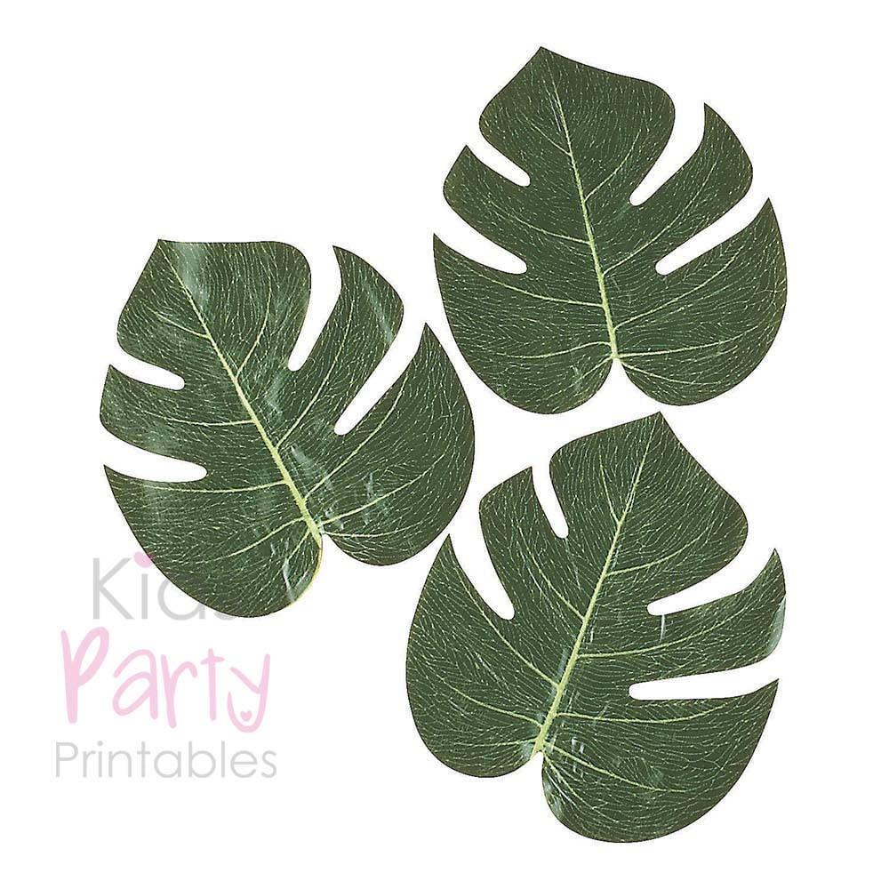 palm leaf printables moana birthday party decor popsugar moms