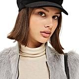 Topshop Women's Velvet Baker Hat