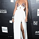 Rihanna Wore Bejeweled Nipple Pasties to the 2014 amfAR Gala