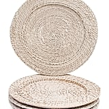 Set of Four Indoor and Outdoor Rattan Chargers