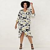 LC Lauren Conrad Plus Size Daisy Wrap Skirt