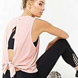 Forever 21 Active Cutout Back Top