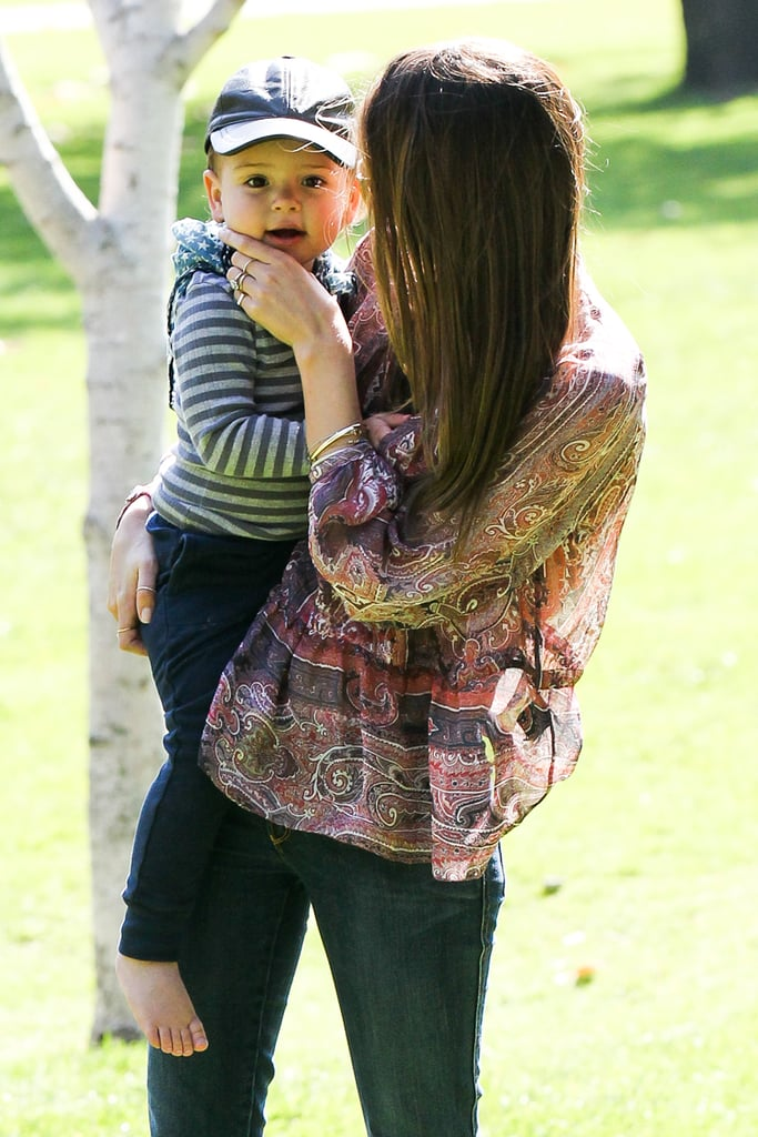 Miranda Kerr Reunites With Her Boys in LA
