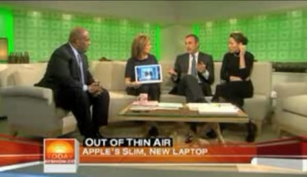 Meredith Vieira Gives a MacBook Air Some Lovin'