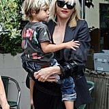 Pictures of Gwen Stefani and Kingston Rossdale