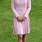 Kate Middleton looked gorgeous as she crossed the grass.