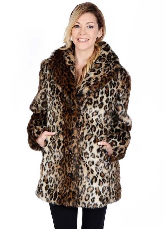 Excelled Women's Excelled Leopard Faux-Fur Coat | Coats on Sale ...