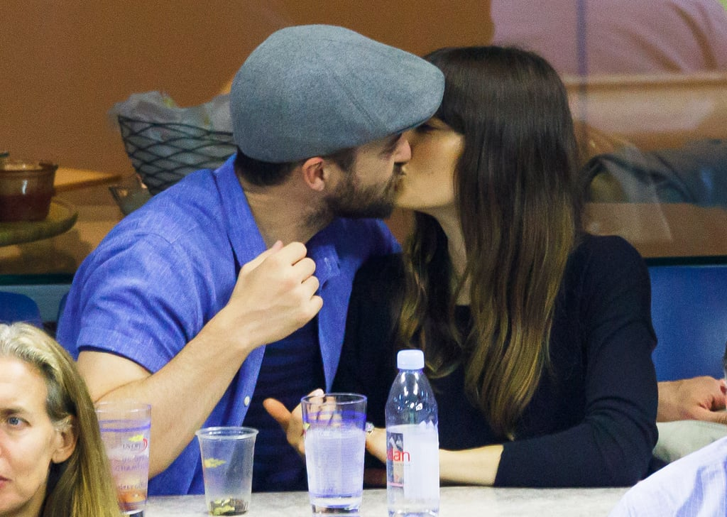 "Justin Timberlake and Jessica Biel stepped out for a sweet date night at the US Open in NYC on Saturday. The couple, who will be celebrating their fifth wedding anniversary in October, cuddled up in the stands and shared a few laughs while watching Roger Federer take on Feliciano Lopez. But perhaps the cutest part was when Justin leaned in for a sweet kiss with his wife.       Related:                                                                                                           9 Things You Didn't Know About Justin Timberlake and Jessica Biel's Wedding — Until Now               Jessica recently opened up about how she makes her relationship with Justin work, telling Marie Claire, ""We have similar values; we believe in loyalty, honesty. We like to have fun. We like a lot of the same things. . . . If you can find that and someone who shares the same values as you, it's like: Score!"" Now excuse us while we add this to our list of the sweetest PDA moments from celebrity couples this year."