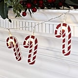 Wooden Candy Cane LED Christmas String Lights