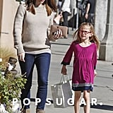 Jennifer Garner strolled through Santa Monica, CA, with Violet on Monday.