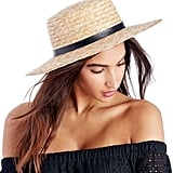 Sole Society Wide Brim Straw Boater