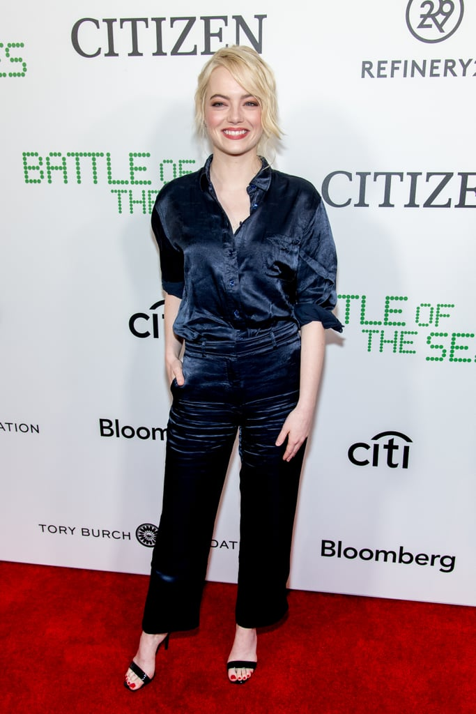 Emma Stone at the Battle of the Sexes Special Anniversary Screening in 2017
