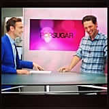 Men at Work's Michael Cassidy stopped by POPSUGAR Live for an interview. Source: Instagram user POPSUGAR