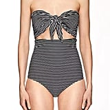Mikoh Women's Lana Striped Strapless One-Piece Swimsuit