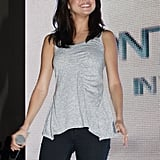Selena Gomez beamed during her Q & A.