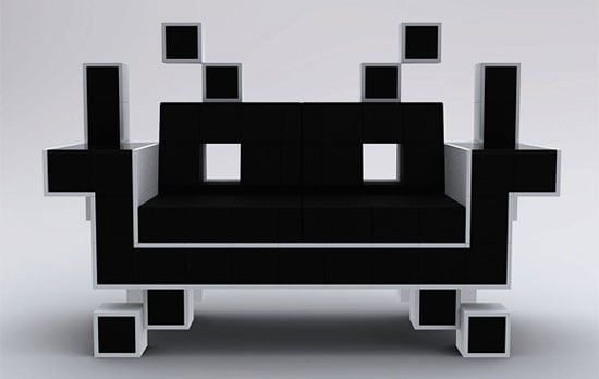 Pictures of the Space Invader Couch