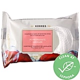 Korres Pomegranate Cleansing & Make-Up Removing Wipes For Oily and Combination Skin