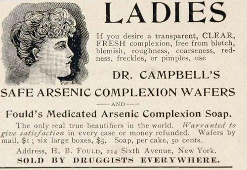 We've Learned Arsenic Isn't a Proper Soap