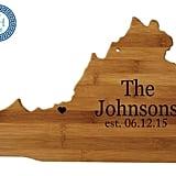 Virginia State Shaped Cutting Board