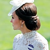 Kate Middleton's Neat Chignon. 2017