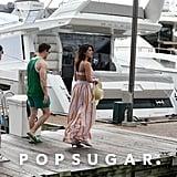 Priyanka Chopra Crop Top With Nick Jonas in Miami