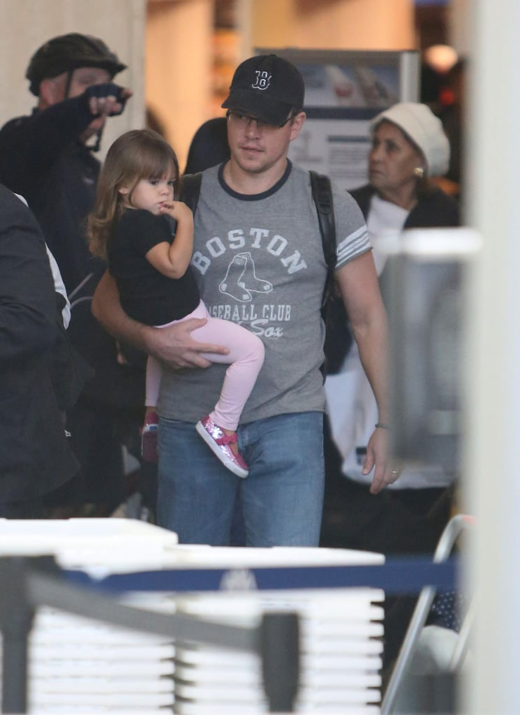 Matt Damon took Stella through security at LAX.