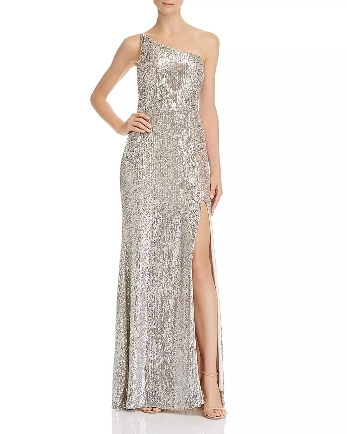 a4679972e21 Avery G One-Shoulder Sequin Gown