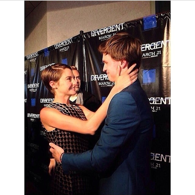 When He Gazed Into Shailene Woodley's Eyes on the Red Carpet