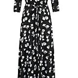 Afibi Womens Bohemian 3/4 Sleeve Faux Wrap Maxi Dress