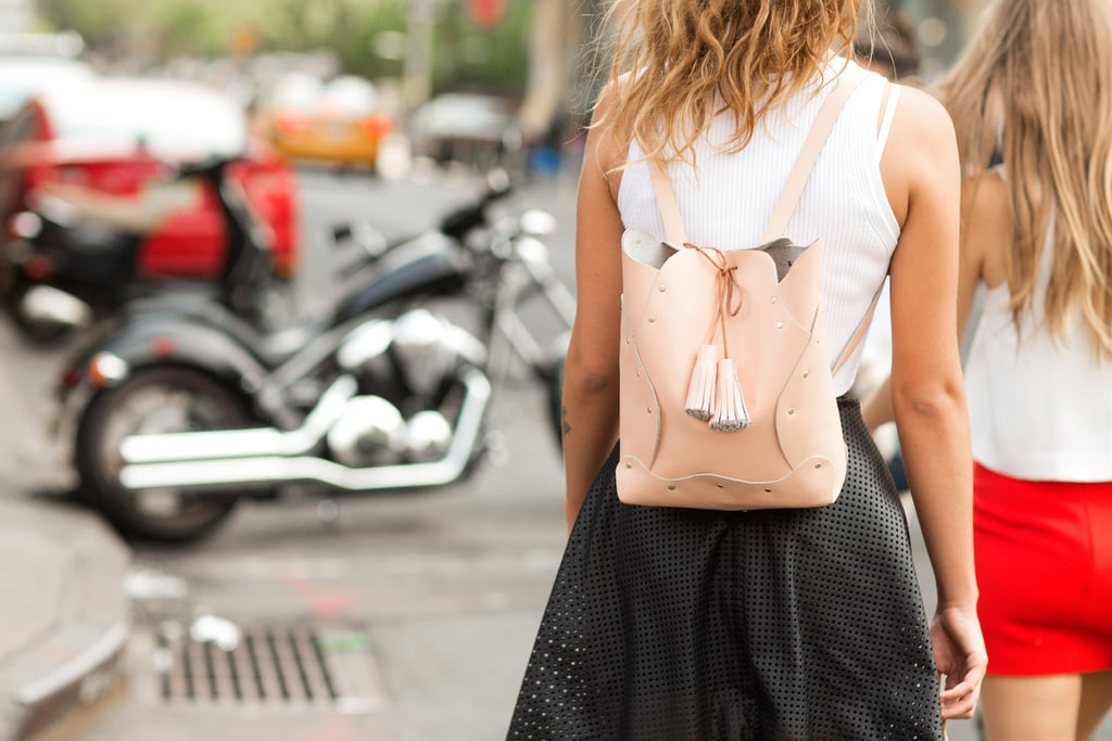Give your schoolgirl style an upgrade with a sleek leather backpack.