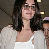 Selena Gomez White Outfit at Airport May 2019