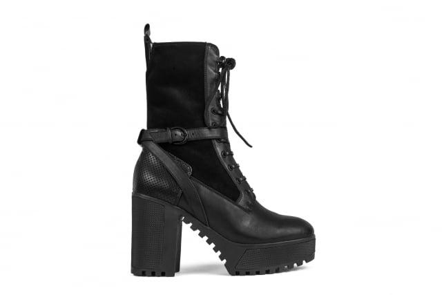 Atelje 71 Annika Black Platform Ankle Boots ($395)