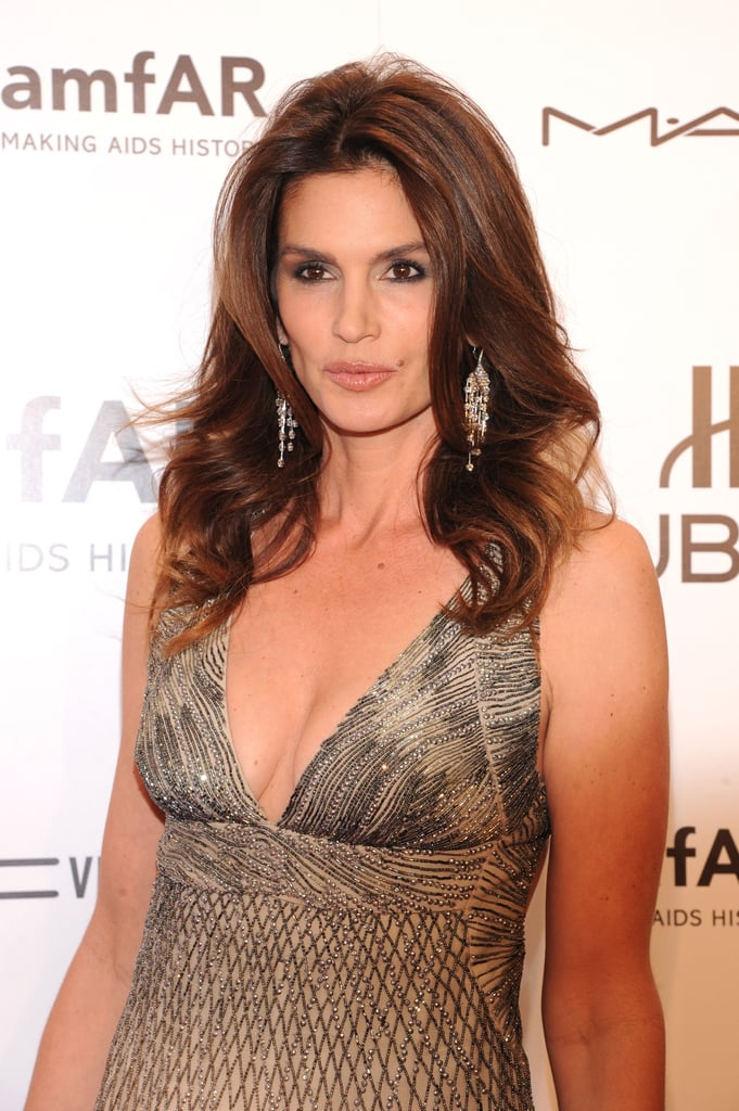 Cindy Crawford attended the 2012 amfAR gala in NYC.