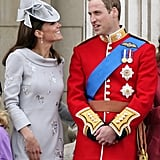 Kate and William got formal for the June 2012 trooping the colour ceremony in London.