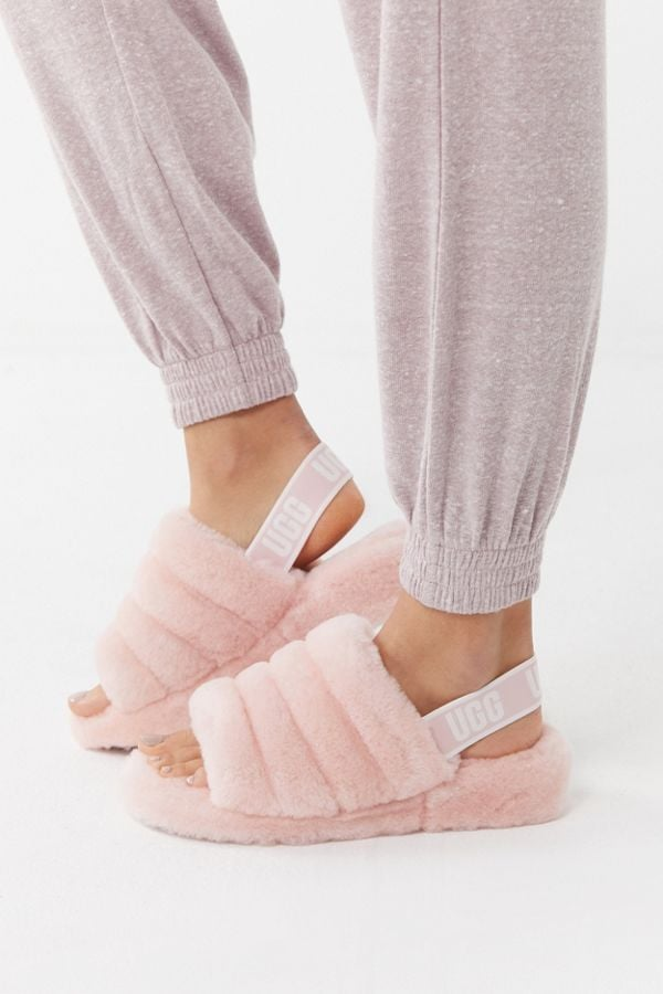 Baby Girl Bedroom Slippers: UGG Fluff Yeah Slide Slippers