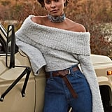 Isadora Off-the-Shoulder Boucle Sweater