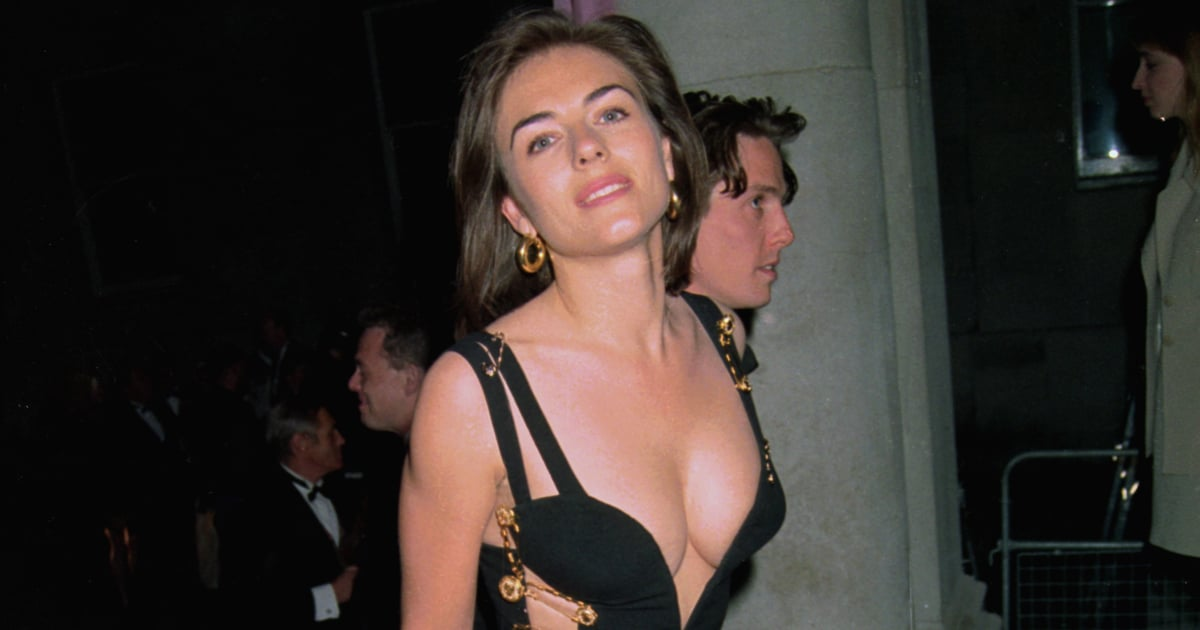 The Untold Fashion Story of Elizabeth Hurley's Iconic Versace Safety Pin Dress