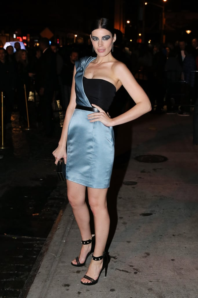 Jessica Paré changed into a short number for the afterparty.