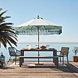 Aqua Replacement Umbrella Canopy With Fringe