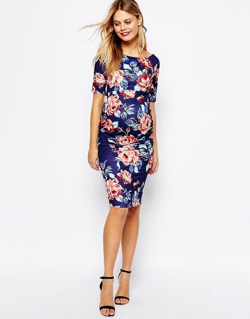 ASOS Bardot Dress With Half Sleeve 46 Maternity Dresses For