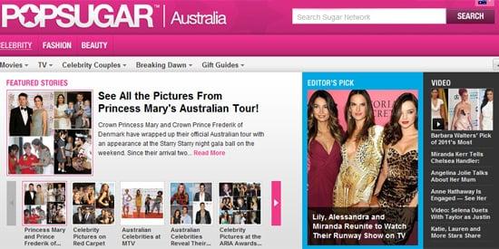 PopSugar Australia New Look Website
