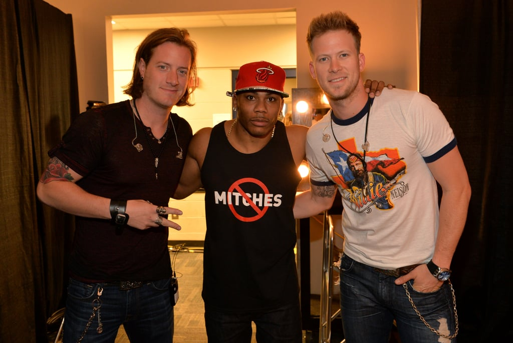 Florida Georgia Line duo Tyler Hubbard and Brian Kelley hung out backstage with Nelly.