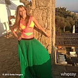 Sofia posed in her swimsuit and a skirt during a 2013 trip to Mykonos. Source: Sofia Vergara on WhoSay